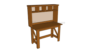 desk hutch plans howtospecialist how to build step by step