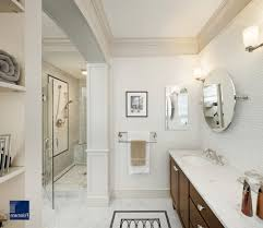 Contemporary Bathroom Mirrors by Polished Nickel Mirror Powder Room Transitional With Metallic
