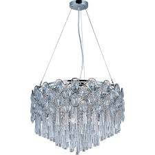 maxim lighting jewel 20 light polished chrome single pendant
