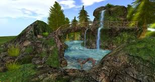 Second Nature Landscaping by Second Life Marketplace Forest Waterfall Nature Scene By Felix