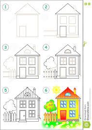 Haus Zu Seite Zeigt Wie Man Schritt Für Schritt Lernt Ein Haus Zu