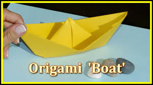easy origami make a boat demo children u0027s educational videos