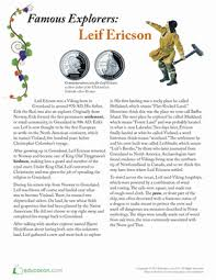 leif ericson writing skills comprehension and reading comprehension