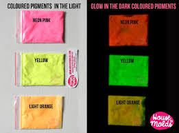 glow in the dark pigments for resin colour kit of 4 white in the