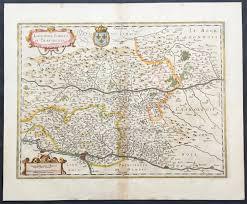 Lyon France Map 1631 Jansson Old Antique Map The Rhone Region Of France Lyon