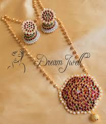 beautiful necklace online images Buy lovely kemp designer temple necklace set dj02804 online JPG