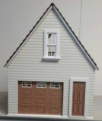 lansdowne 1 12 scale dollhouse one car garage workshop from