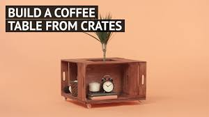build a coffee table from crates youtube