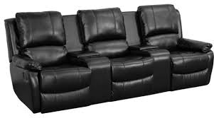 Recliner 3 Seater Sofa 3 Seat Home Theater Recliner Contemporary Theater Seating By