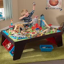kidkraft train table compatible with thomas amazon com kidkraft aero city train set table toys games