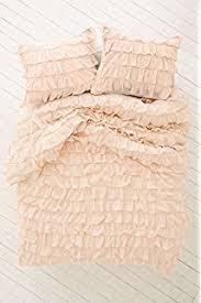 amazon com scala bedding 3 piece waterfall ruffle duvet cover set