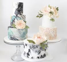 marble geode and agate wedding cakes cake geek magazine