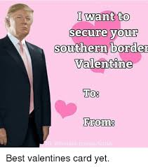Best Valentine Memes - i want to secure your southern border valentine to from g odonald