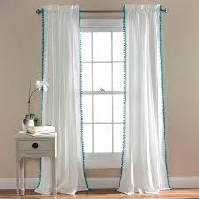 pom pom window curtains walmart com