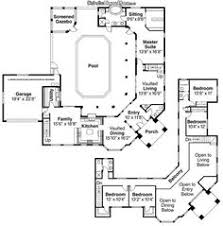 Houses Floor Plans by Porte Cochere Valencio Estate House Plan Courtyard First
