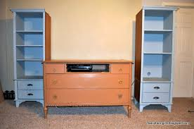 Dresser With Bookshelves by Turning An Old Dresser And Bookshelves Into A Media Center All