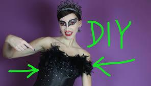 Halloween Black Swan Makeup Diy Black Swan Corset And Tutu Diy Halloween 2014 6 Youtube