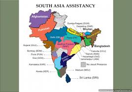 Asia Map by Map Of South Asia Assistancy Jesuit Conference Of South Asia