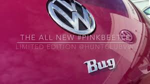 pink volkswagen beetle with eyelashes the all new 2017 pinkbeetle is here hunt club vw youtube