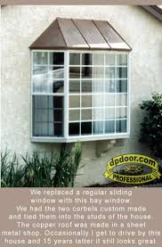 best images about bay bow windows pinterest white bay window with copper roof and two wood corbels