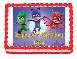 edible cake images pj masks party edible cake image cake topper frosting