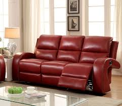 sm2232 furniture of america zaffiro living room set ruby red