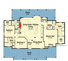 southern style floor plans southern style 3 bed raised cottage 55155br architectural