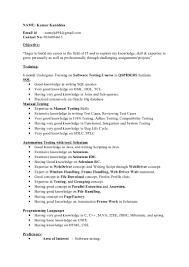 software testing resume samples for freshers selenium resume drb exp resume manual and selenium master copy majestic design ideas selenium resume 10 kanishka resume example selenium resume