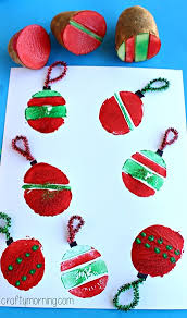 potato sting craft ornament bulbs crafty morning