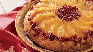 apple cranberry upside down cake recipe bettycrocker com