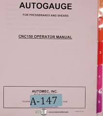 autogauge automec cnc 150 g24 control install programming and