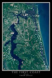 satellite map of florida jacksonville florida the coast satellite poster map
