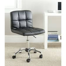 Home Office Desk Chairs Modern Black Faux Leather Cushion Home Office Desk Chair