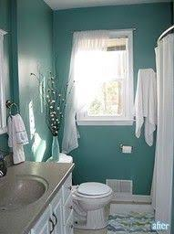Teal Bathroom Ideas The Color Teal With The Wood And The Grey Floor Bathroom