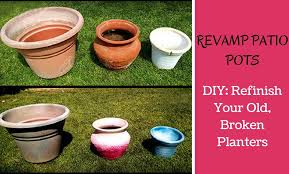 how to refinish old beatup planters