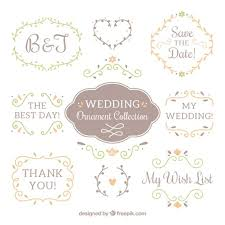 ai wedding ornaments collection vector free pikoff