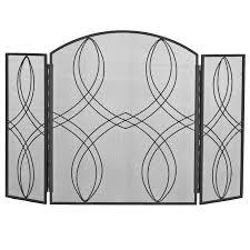 celtic scroll design black iron fire guard fire guards u0026 screens