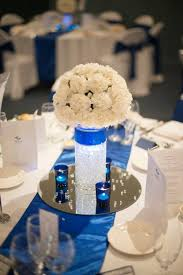 centerpieces for wedding royal blue and ivory wedding decorations 8369