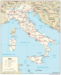 Italy Road Map by Map Italy Road Maps