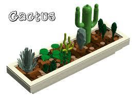desk cactus lego ideas cactus