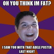 I M Fat Meme - oh you think im fat i saw you with that adele poster last night