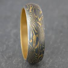 unique wedding bands for men unique 22k gold and iron wedding band wedding whims