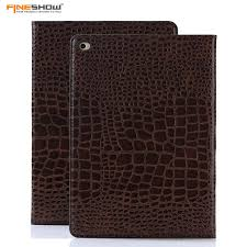online get cheap ipad book stand aliexpress com alibaba group fineshow smart case for apple ipad air 2 crocodile books leather smart folio stand cover case