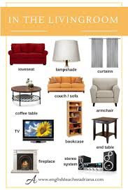 Living Room Furniture Names 1926 Best Efl Grammar Vocabulary Images On Pinterest