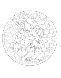 free coloring pages of dragons free mandalas page coloring to print mandala dragon 1 dragon