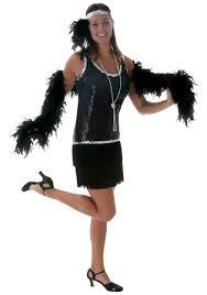 black flapper costume womens 1920s flapper costume for