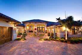 Mediterranean Style House Modern Home Plans Florida One Story Mediterranean House Floo Hahnow