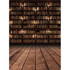 Bookshelf Background Image Custom Vinyl Fabric Bookshelf Graduation Library Portrait