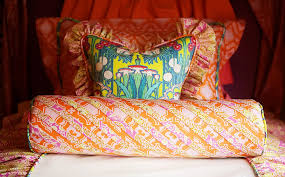 bedroom decorative throw pillows and bolster pillows plus