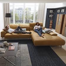 sofa leder braun musterring leder wohnlandschaft mr 2490 in braun design sofa